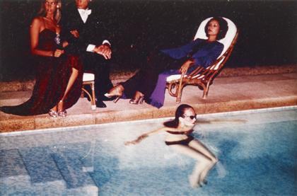 Helmut Newton-Poolside scene (Vogue u.k., october 1973)-1973