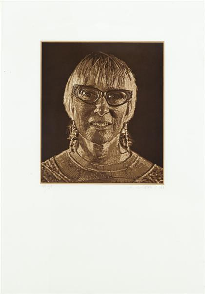 Chuck Close-Janet-1988