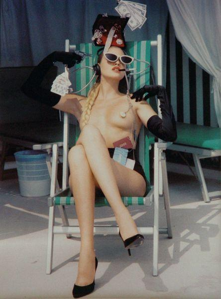 Helmut Newton-Model and Dollar-