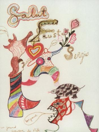 Niki de Saint Phalle-Salut, (Salut Faust)-