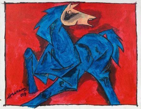 Maqbool Fida Husain-Ohne Titel-2007