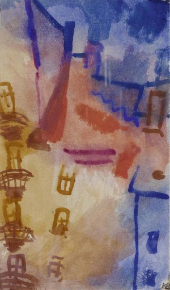 Paul Klee-Der Hof (Sonne Im Hof)-1913
