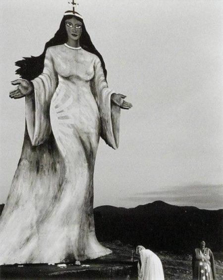 Sebastiao Salgado-Brasil 1980 (Two Women making an Offering to a Goddess Statue, Brazil)-1980