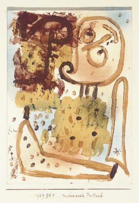 Paul Klee-Unbekannte Initiale (Unknown Initial)-1939