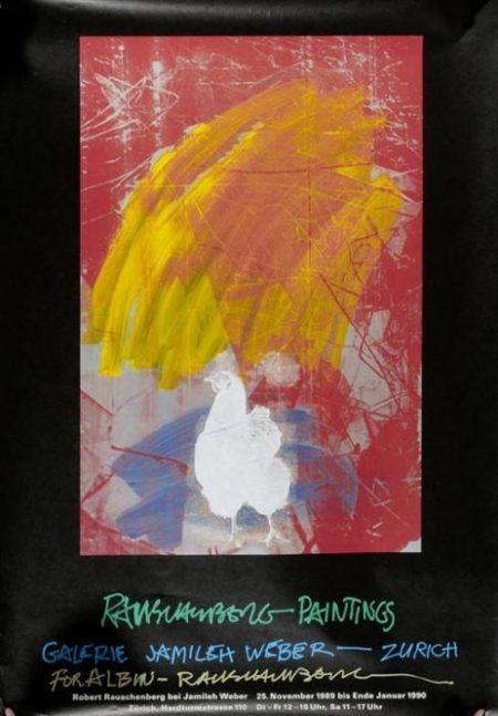 Robert Rauschenberg-Robert Rauschenberg - Affiche Rauschenberg Paintings, Zurich-1989