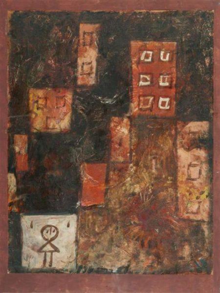 Paul Klee-Hauser Treppe-1923