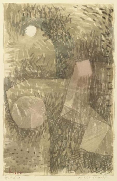 Paul Klee-Fundstelle Bei Mondschein (Site By Moonlight)-1934