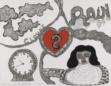 Niki de Saint Phalle-Rain, (Rain, Clouds and Tears)-1970
