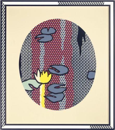 Roy Lichtenstein-Water Lilies - Blue Lily Pads-1992