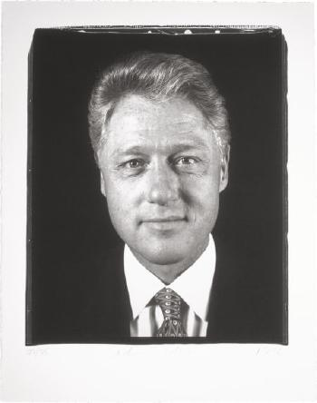 Chuck Close-President Clinton, Frontal / Untitled-1996