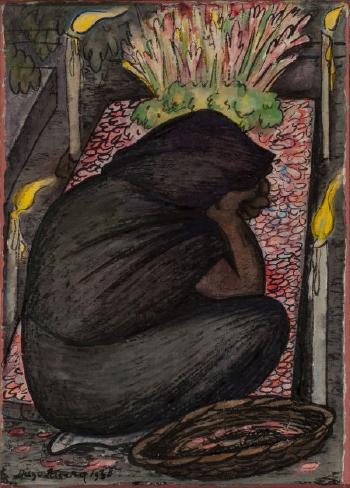 Diego Rivera-Velorio-1928
