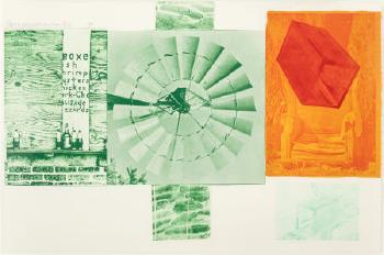 Robert Rauschenberg-Robert Rauschenberg - Lithograph I (from the Glacial Decoy series)-1979