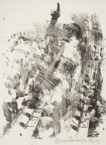 Robert Rauschenberg-Robert Rauschenberg - Sky Rite (From The Stoned Moon Series)-1969