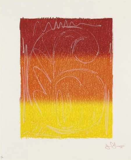 Jasper Johns-Figure 6 (from the Color Numeral series)-1969