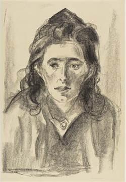 Edvard Munch-Strassenmadchen-1919
