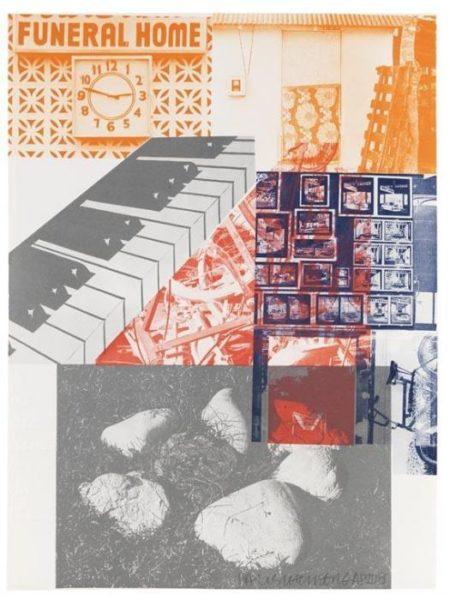 Robert Rauschenberg-Robert Rauschenberg - American Pewter with Burroughs VI-1981