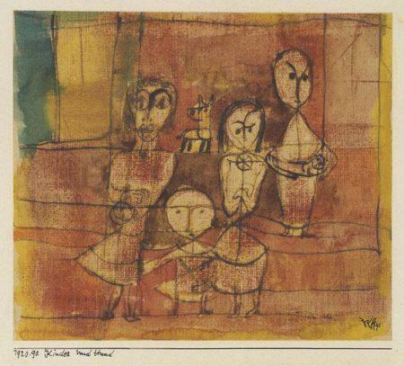 Paul Klee-Kinder Und Hund-1920