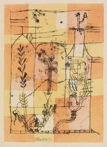 Paul Klee-Hoffmanneske Szene-1921