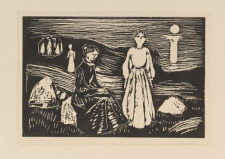 Edvard Munch-Frauen am Strand / Kvinner pa Stranden / Women on the Beach (Woll 369)-1909