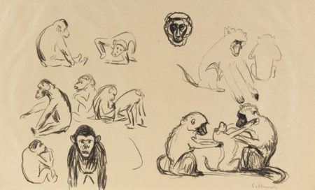 Edvard Munch-Affen I und II-1908