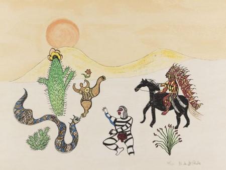 Niki de Saint Phalle-Le Chef de Indien-1978