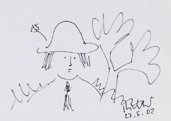 Gerhard Richter-Figur mit Hut-2002