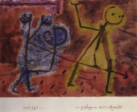 Paul Klee-Ein Gefangener Wird Abgefuhrt-1939