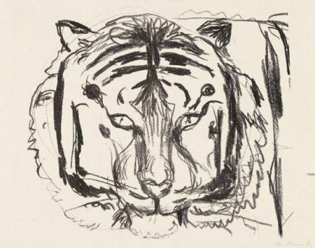 Edvard Munch-Tigerkopf II (Woll 319; Schiefler 288)-1908