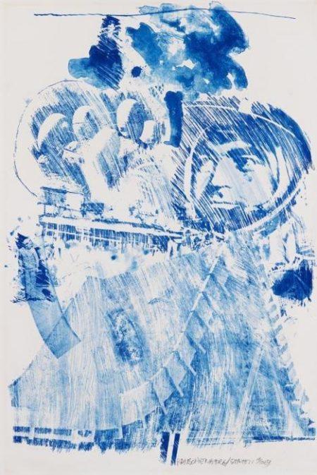 Robert Rauschenberg-Robert Rauschenberg - Arena II (From Stoned Moon series)-1969