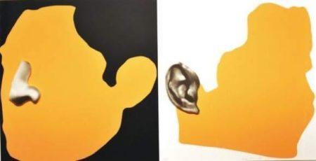 John Baldessari-Noses and Ears etc...: Two Profiles (Profile with nose/Profile with Ear)-2006