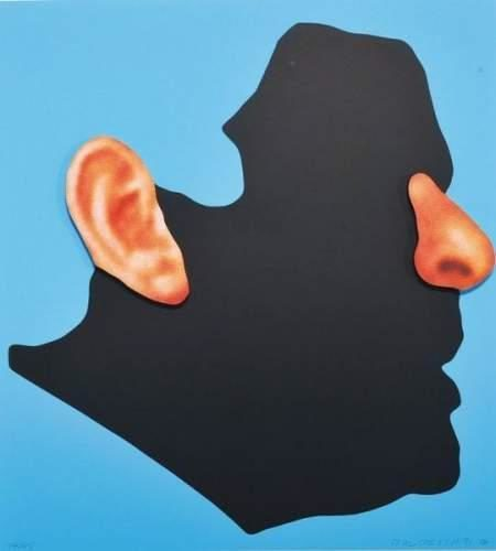 John Baldessari-Nose and Ears etc... Profile with Ear and Nose-2006