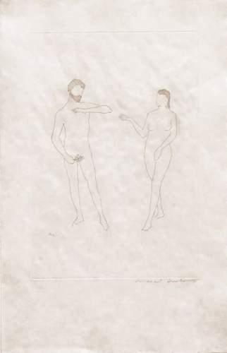 Marcel Duchamp-Morceaux choisis d'apres Cranach et 'Relache' (1st state) Schwarz 646b-1967