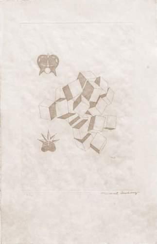 Marcel Duchamp-Roi Et Reine (1st state) serie Large Glass (Schwarz 646b)-1968