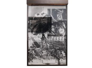 Robert Rauschenberg - Sling Shot Lit # 3 (Black State)-1985