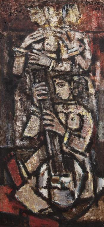 Maqbool Fida Husain-The Sitar Player-1964