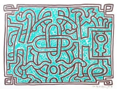 Keith Haring-Keith Haring - Chocolate Buddha V-1989