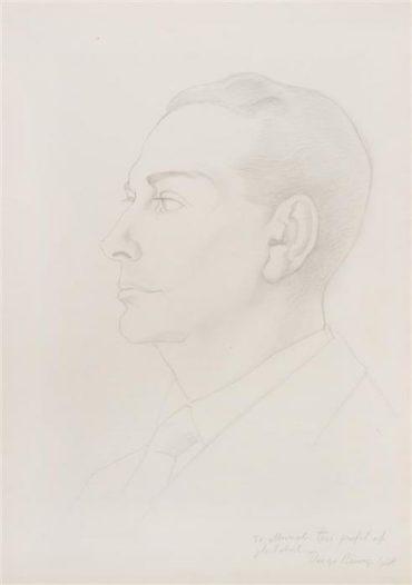 Diego Rivera-Portrait of Bert Mitchell-1948