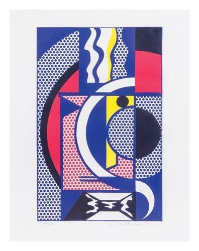 Roy Lichtenstein-Modern Head #1-1970