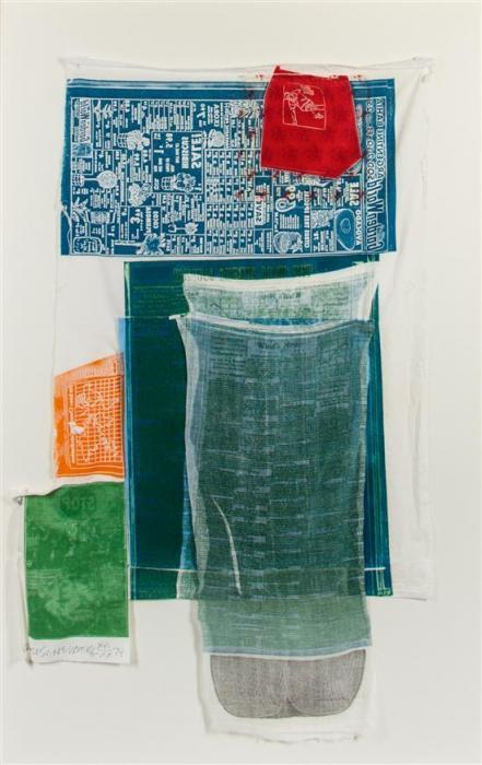 Robert Rauschenberg-Robert Rauschenberg - Platter (From The Airport Series)-1974
