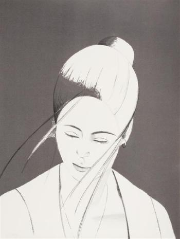 Alex Katz-Grey Pamela / Pamela / Pamela in Gray-1976