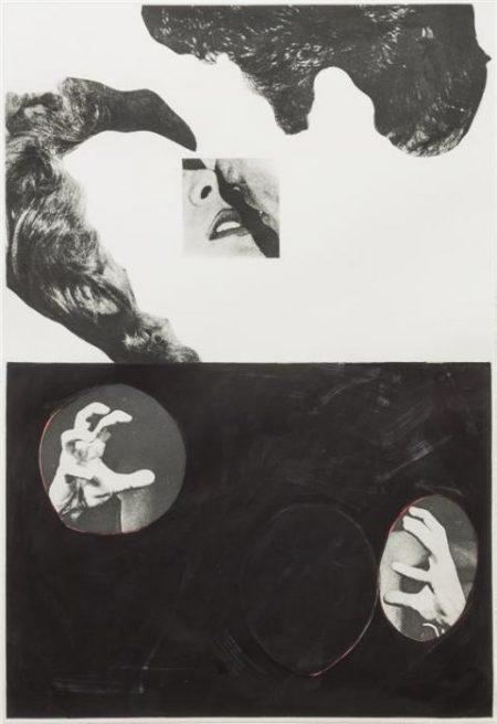 John Baldessari-Kiss, Hair, Hand-1986
