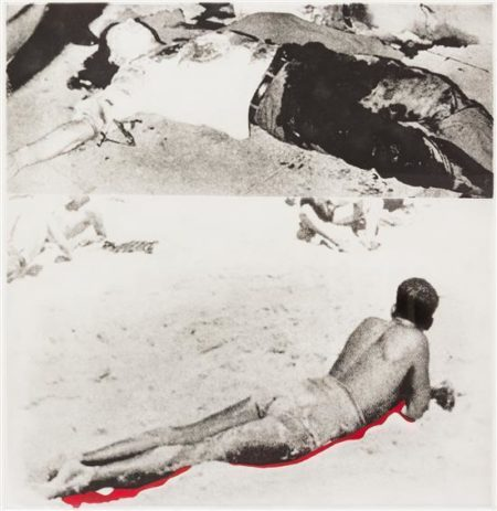 John Baldessari-Hegel's Cellar: Two Figures (One with Shadow)-1986