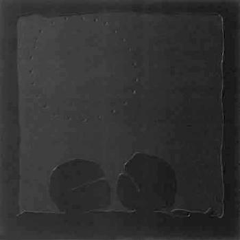 Lucio Fontana-Concetto spaziale teatrino nero-1966
