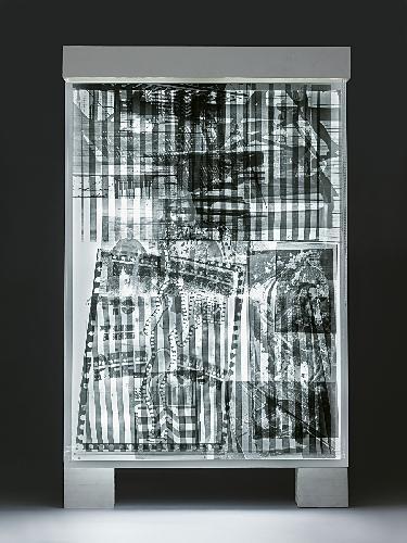 Robert Rauschenberg-Robert Rauschenberg - Sling Shots Lit # 8 (Black State)-1985