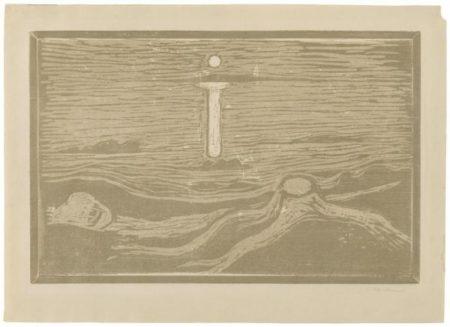 Edvard Munch-Meereslandschaft (Woll 117 III; Schiefler 125 b)-1897