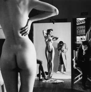 Helmut Newton-Self Portrait with Wife and Models-1981