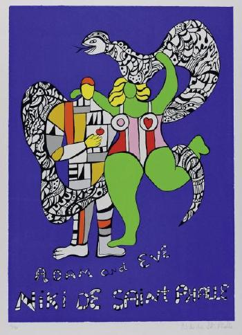 Niki de Saint Phalle-Adam And Eve-1986
