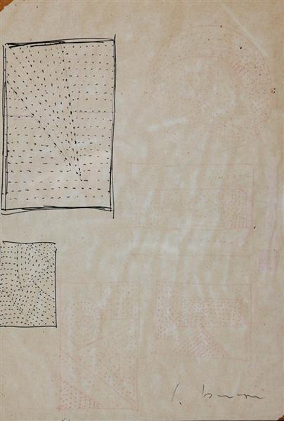 Lucio Fontana-Studi per buchi-1964