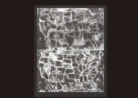 Jasper Johns-Two Maps II (Ulae 26)-1966