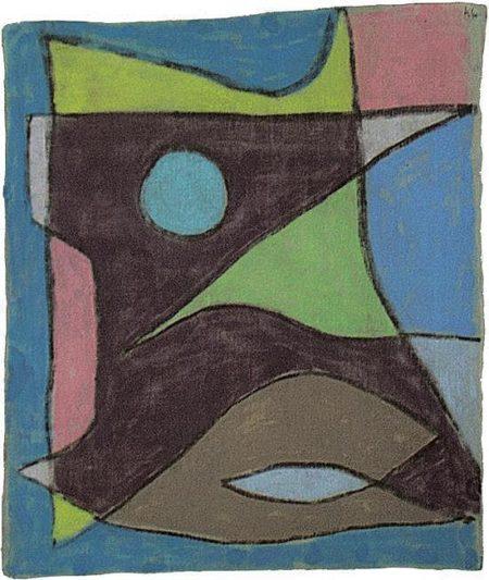 Paul Klee-Maske Unterwasserfuhrer (Mask Of An Underwater Guide)-1934